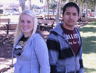 Courtney Head of Pasadena and Edgar Valdez of Mission
