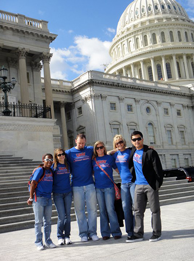 UHV Student Senate members sightsee at the U.S. Capitol