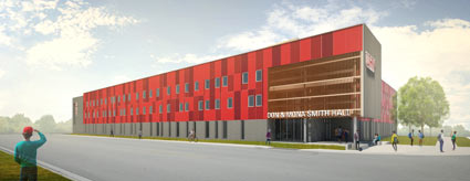 rendering of what UHV Don & Mona Smith Hall will look like