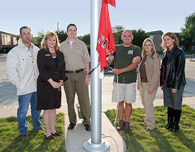 From left, Kenneth Bunton, Amy Smith, Russell Buesing, Eric Mebane, Tammy Zellner and Melissa Rivera