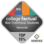 2018 College Factual Non-Traditional Students Nationwide Top 15%