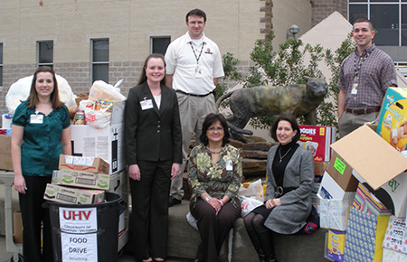 University of Houston-Victoria Food Drive Feb 2010