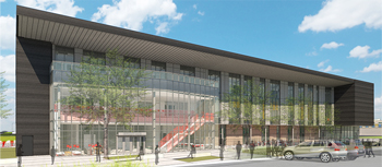 Rendering of the UHV STEM building